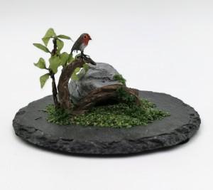 Robin on a branch (Rödhake på gren)